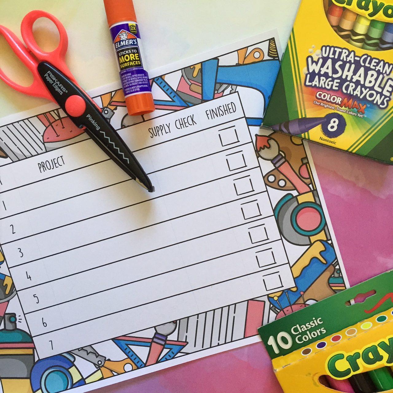 Chart to challenge children to set goals and achieve them.