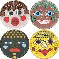 Image of Masks From Recycled Cheese Boxes
