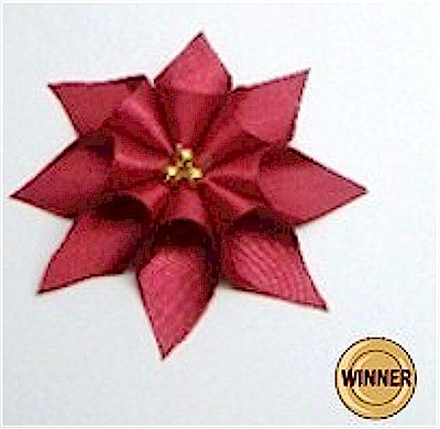 Ribbon Christmas Pointsettia decoration