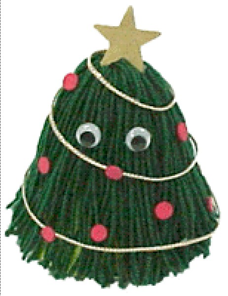 Image of Christmas Tree Yarn Bug