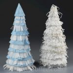 Turn Cupcake Liners Into Christmas Trees