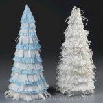 Turn Cupcake Liners Into Christmas Trees
