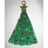 Image of Paper Christmas Tree Fan