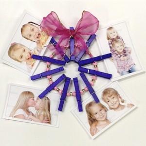 Clothespin Wreath Photo Holder