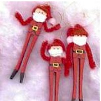 Image of Clothespin Santa