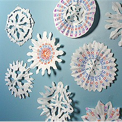 Image of Coffee Filter Snowflakes With A Message