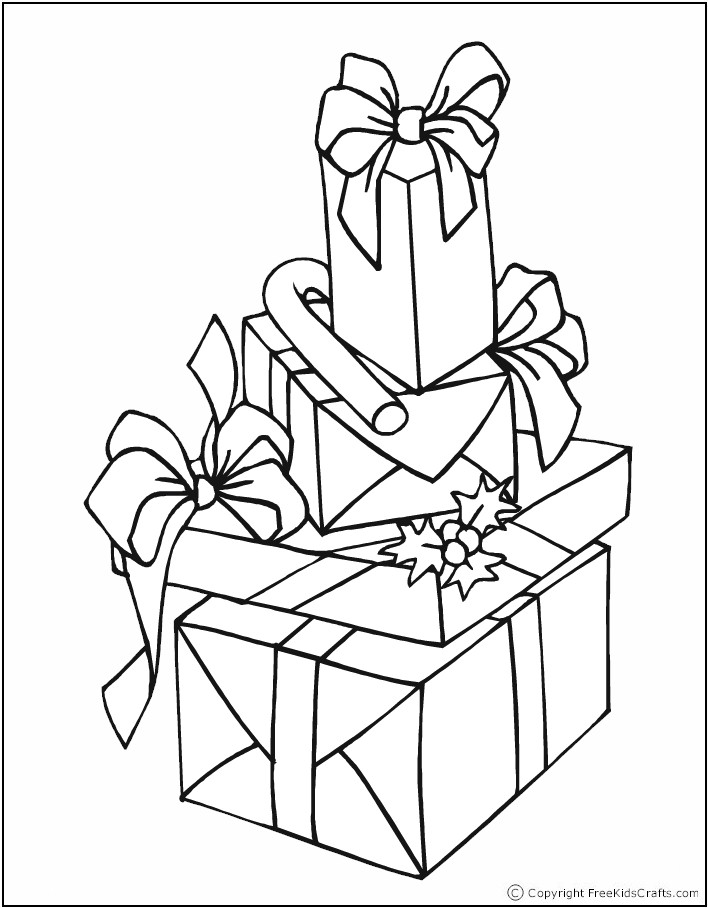 gifts coloring pages - photo#17