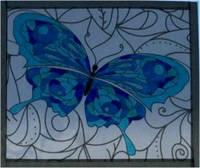 Coloring Book Faux Stained Glass