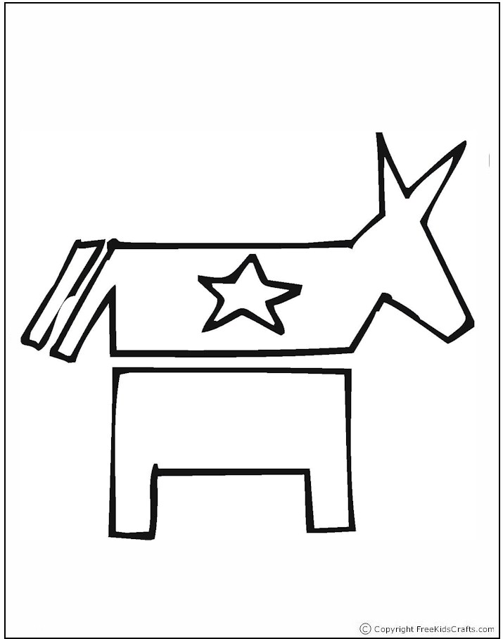 election coloring pages for kids - photo#28
