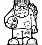 coloring-page-frankenstein