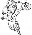 coloring-page-girl-baseballl-player