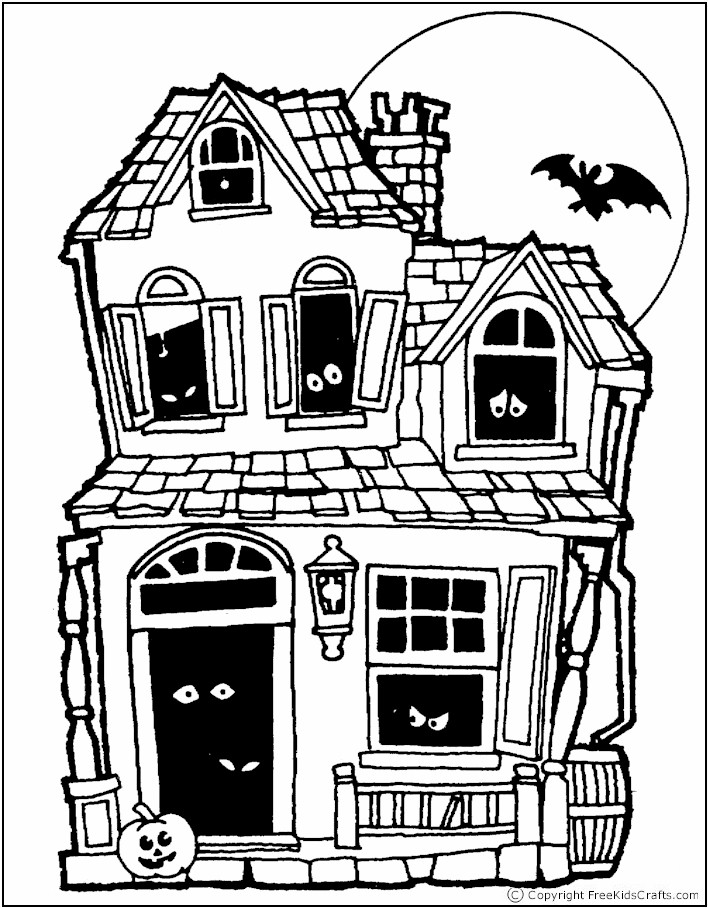 coloring-page-haunted-house