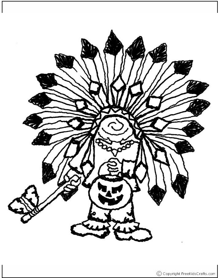 coloring-page-indian