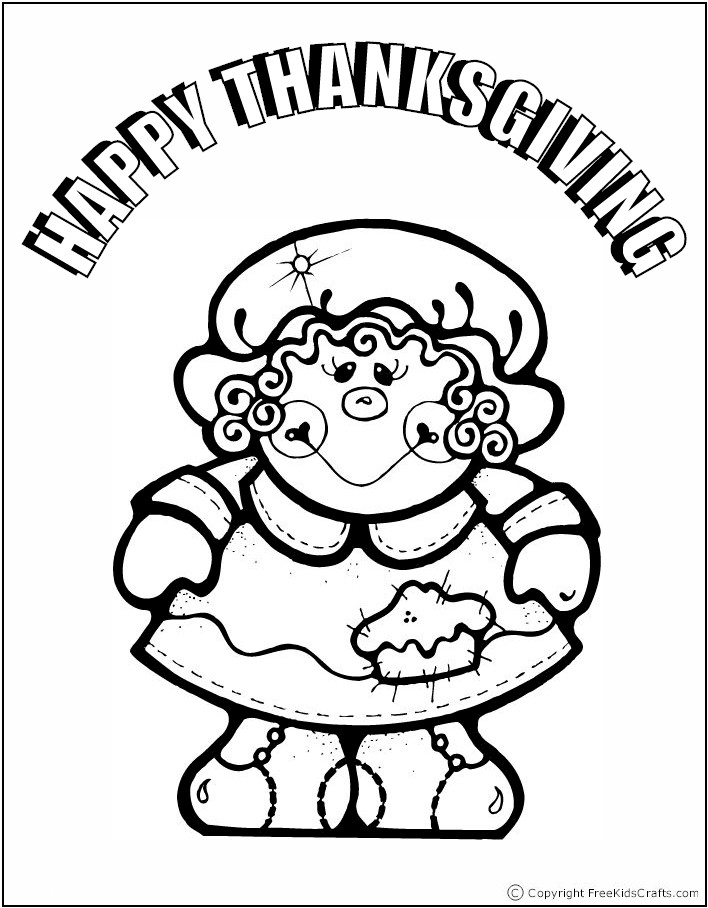 coloring-page-pilgrim-girl
