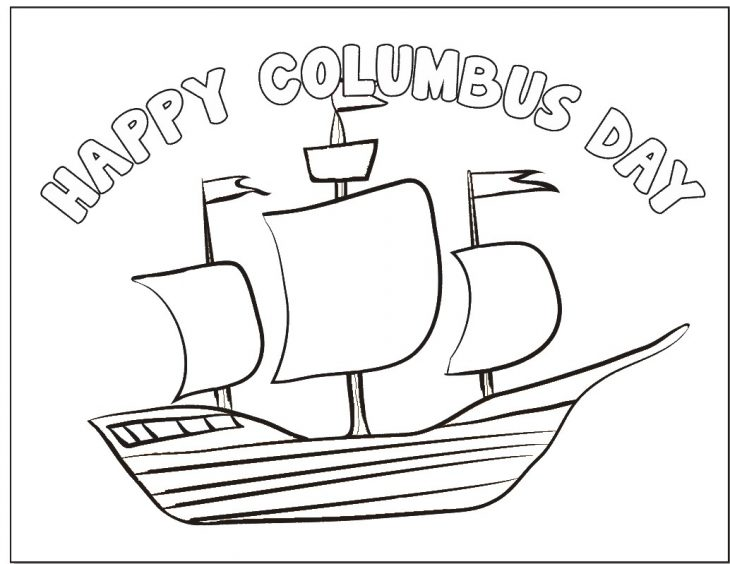 Columbus Day Coloring Page