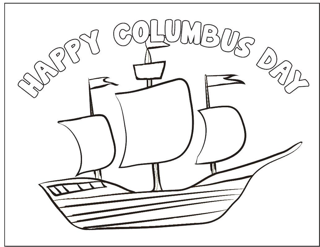 Image of Columbus Day Coloring Page