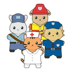 Printable Community Helpers Buddies Paper Dolls
