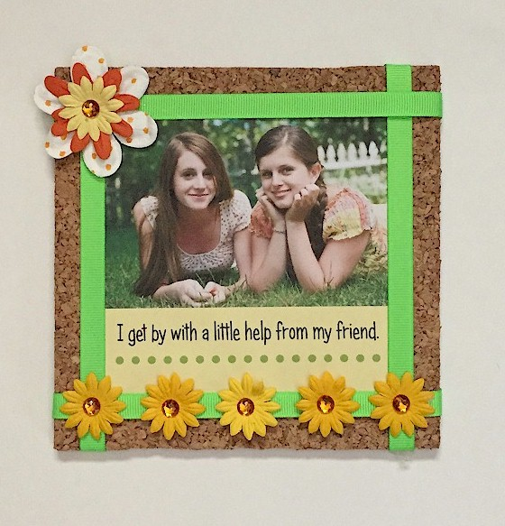 Image of Cork Board Photo Frame