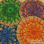 DIY Cork Spirograph Coasters