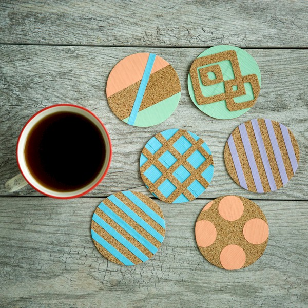 Image of Cork Tape Coasters
