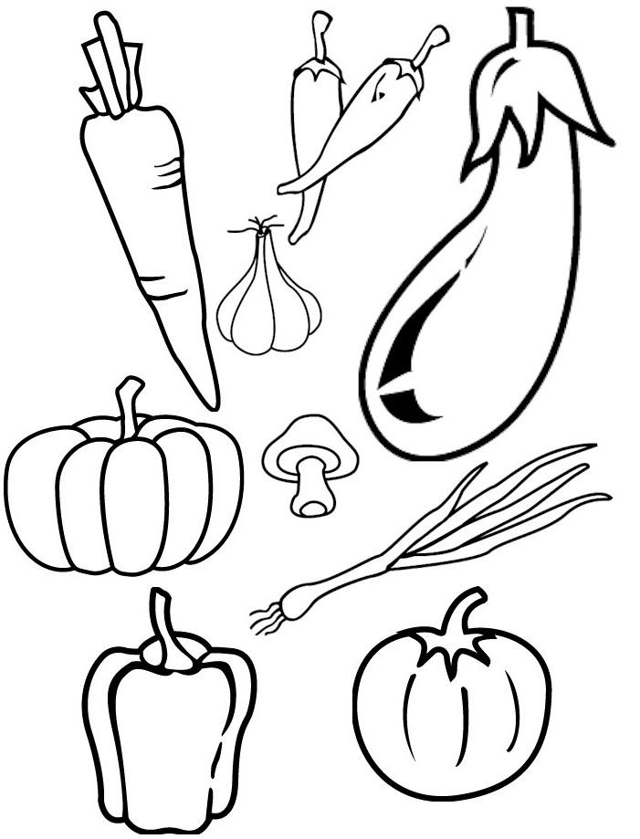 Printable cornucopia for Veggies coloring pages
