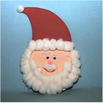 Cotton Ball Santa