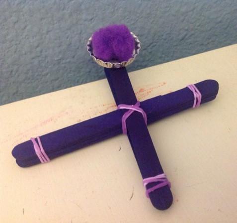 Image of Egg Dye Craft Stick Crosses