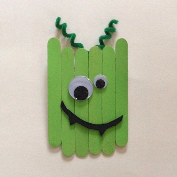Image of Craft Stick Goofy Monster