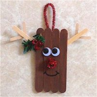 Image of Craft Stick Santa