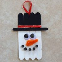 Image of Relief Painting Snowman Card