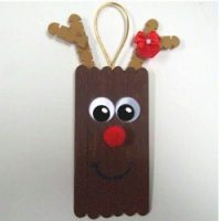 Image of Craftstick Reindeer Ornament