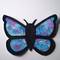Image of Recycled Puzzle Piece Butterfly
