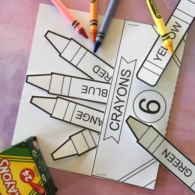 Back to School Crayon Coloring Page and Activity