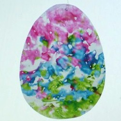 Crayon Easter Egg Sun Catcher
