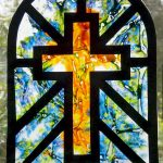 Melted Crayon Stained Glass Cross Suncatcher