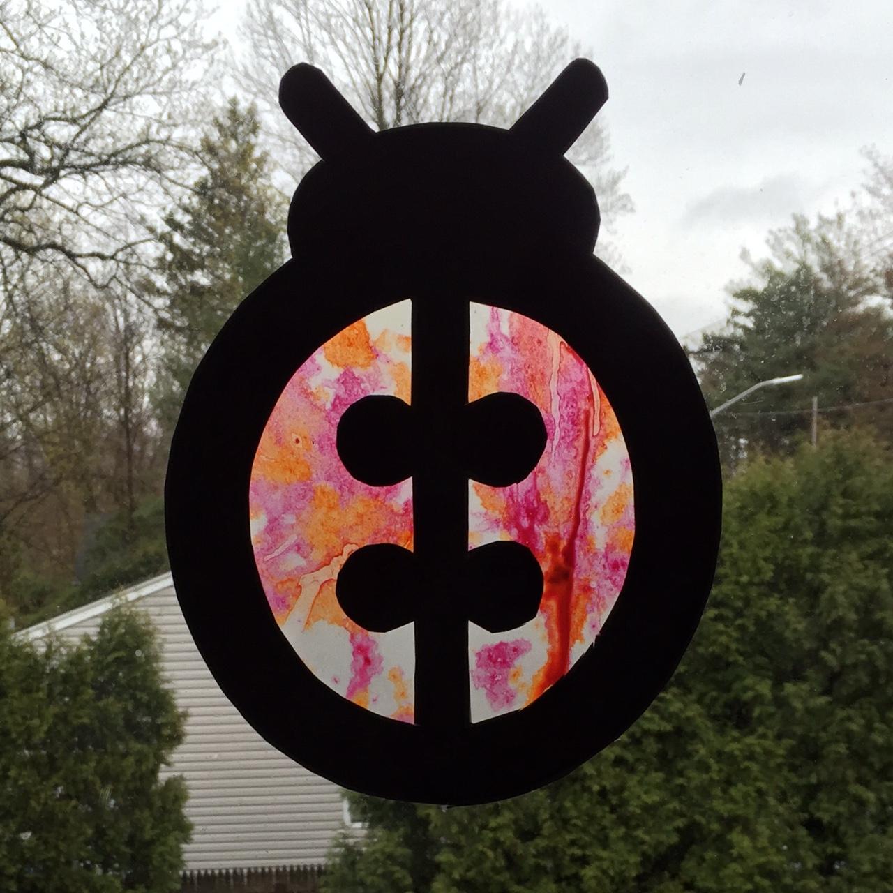 Crayon Ladybug with Pattern