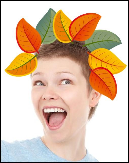 Fall Leaf Crazy  Hair