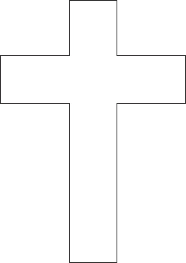 Versatile image for free printable cross template