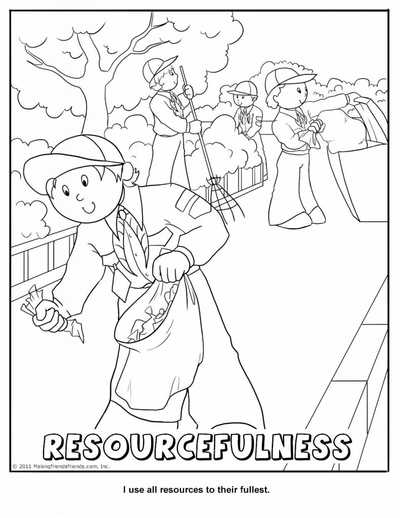 Cub Scout Coloring Pages Scout Coloring Pages