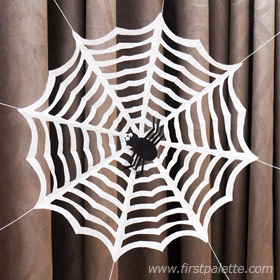 Image of Cut Paper Spider Web