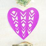 Fancy Cut Paper Valentine