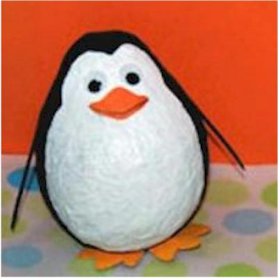 Cute Paper Mache Penguin