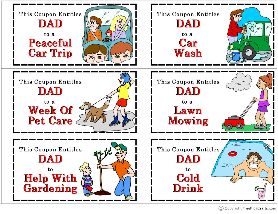 car wash coupon template - coupon book for dad