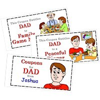 Coupon Book for Dad