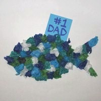 Image of Tissue Paper Fish for Dad