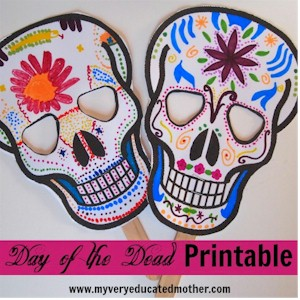 Day Of The Dead Mask with Pattern