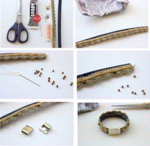 Image of Denim Bracelet