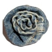 Image of Denim Fabric Rose