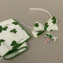 St. Paddy's Dish Towel Hair Accessories