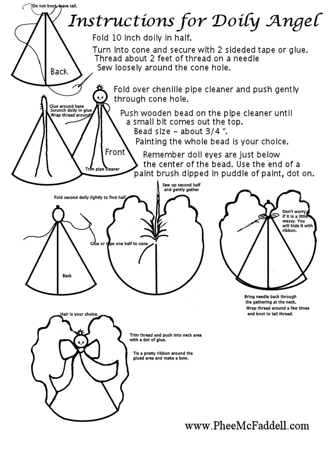 Doily angel patterns templates and printables pronofoot35fo Images